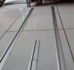 Capping Alluminium Untuk Pemasangan Vinyl Lantai